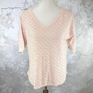 French Connection Pink Short Sleeve Sweater XS NWT